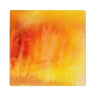 Abstract watercolor hand painted background 19 wood coaster