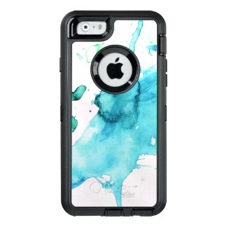 Abstract watercolor hand painted background 2 2 OtterBox defender iPhone case