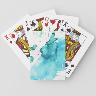 Abstract watercolor hand painted background 2 2 playing cards