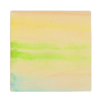 Abstract watercolor hand painted background 2 2 wood coaster
