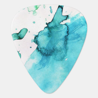 Abstract watercolor hand painted background 2 3 guitar pick