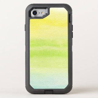Abstract watercolor hand painted background 2 4 OtterBox defender iPhone 8/7 case
