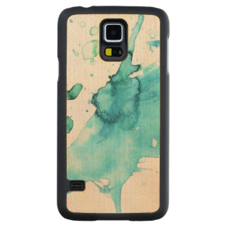 Abstract watercolor hand painted background 2 carved maple galaxy s5 case