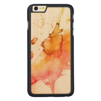 Abstract watercolor hand painted background 2 carved® maple iPhone 6 plus case