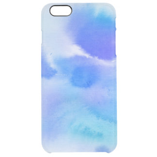 Abstract watercolor hand painted background. 2 clear iPhone 6 plus case