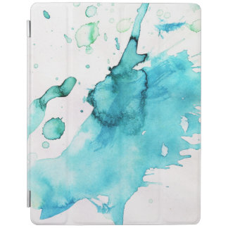 Abstract watercolor hand painted background 2 iPad cover