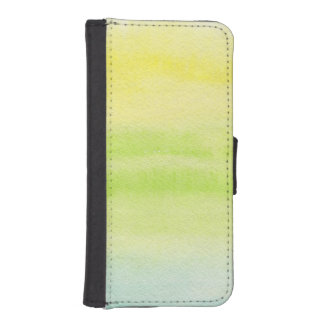 Abstract watercolor hand painted background 2 iPhone SE/5/5s wallet case