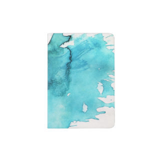 Abstract watercolor hand painted background 2 passport holder