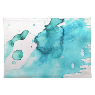 Abstract watercolor hand painted background 2 placemat