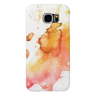 Abstract watercolor hand painted background 2 samsung galaxy s6 cases