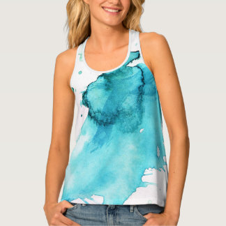 Abstract watercolor hand painted background 2 tank top