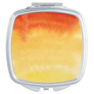 Abstract watercolor hand painted background. 2 travel mirror