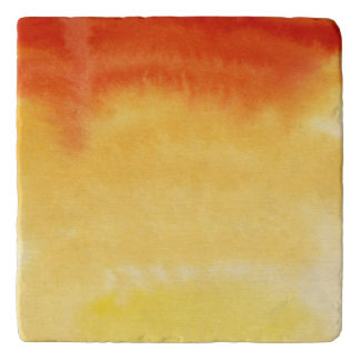 Abstract watercolor hand painted background. 2 trivets