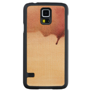 Abstract watercolor hand painted background 3 2 carved maple galaxy s5 case