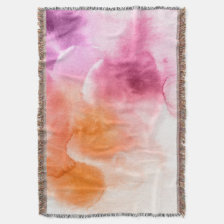 Abstract watercolor hand painted background 3 2 throw blanket