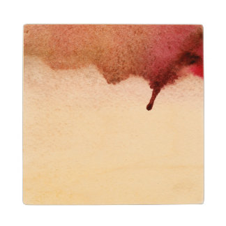 Abstract watercolor hand painted background 3 2 wood coaster