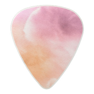 Abstract watercolor hand painted background 3 3 acetal guitar pick