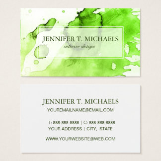 Abstract watercolor hand painted background 3 3 business card