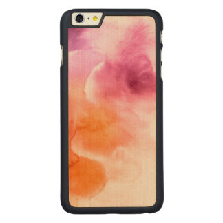 Abstract watercolor hand painted background 3 3 carved® maple iPhone 6 plus case