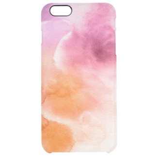 Abstract watercolor hand painted background 3 3 clear iPhone 6 plus case