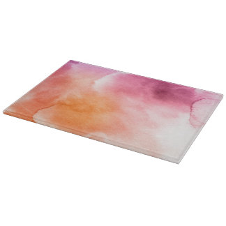 Abstract watercolor hand painted background 3 3 cutting board