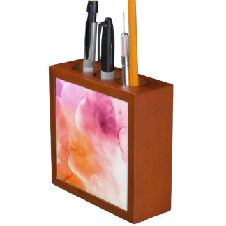 Abstract watercolor hand painted background 3 3 desk organiser