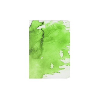 Abstract watercolor hand painted background 3 3 passport holder