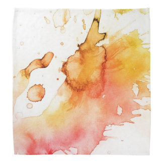 Abstract watercolor hand painted background 3 bandana