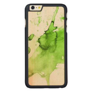 Abstract watercolor hand painted background 3 carved® maple iPhone 6 plus case