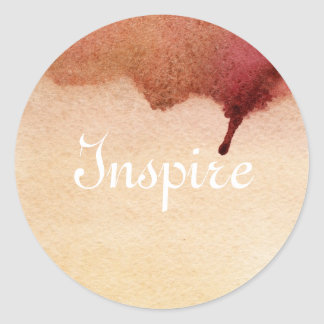 Abstract watercolor hand painted background 3 classic round sticker