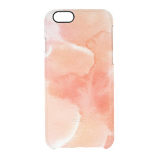 Abstract watercolor hand painted background 3 clear iPhone 6/6S case