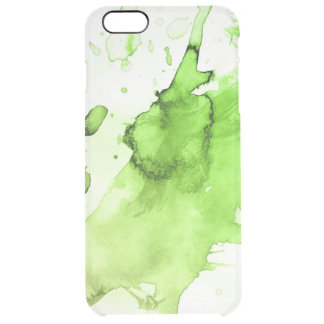 Abstract watercolor hand painted background 3 clear iPhone 6 plus case