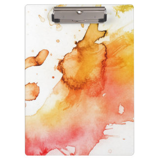 Abstract watercolor hand painted background 3 clipboard