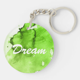 Abstract watercolor hand painted background 3 key ring
