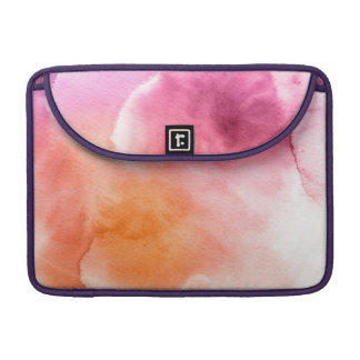Abstract watercolor hand painted background 3 sleeve for MacBook pro