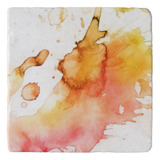 Abstract watercolor hand painted background 3 trivet