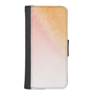 Abstract watercolor hand painted background 4 2 iPhone SE/5/5s wallet case