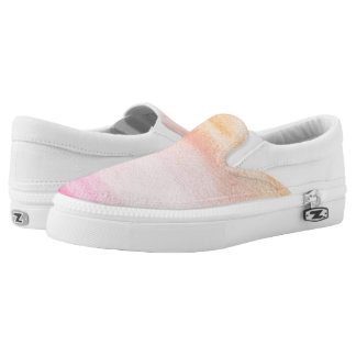Abstract watercolor hand painted background 4 2 Slip-On shoes