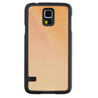 Abstract watercolor hand painted background 4 3 carved maple galaxy s5 case