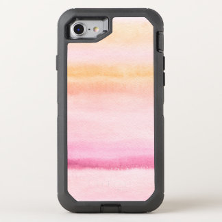 Abstract watercolor hand painted background 4 3 OtterBox defender iPhone 8/7 case