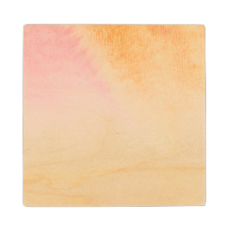 Abstract watercolor hand painted background 4 3 wood coaster