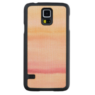 Abstract watercolor hand painted background 4 carved maple galaxy s5 case
