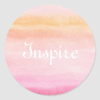 Abstract watercolor hand painted background 4 classic round sticker
