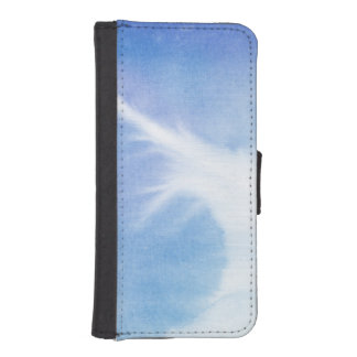Abstract watercolor hand painted background 4 iPhone SE/5/5s wallet case
