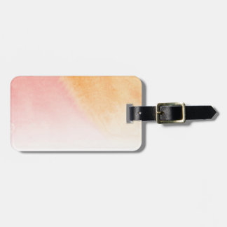 Abstract watercolor hand painted background 4 luggage tag