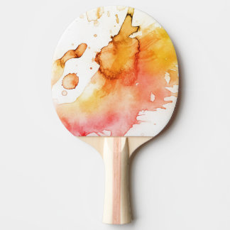 Abstract watercolor hand painted background 4 ping pong paddle