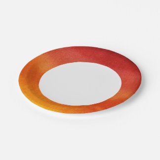 Abstract watercolor hand painted background 5 2 paper plate