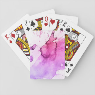 Abstract watercolor hand painted background 5 2 playing cards