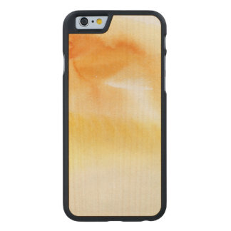 Abstract watercolor hand painted background 5 3 carved maple iPhone 6 case
