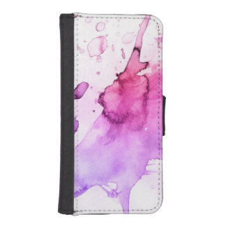 Abstract watercolor hand painted background 5 3 iPhone SE/5/5s wallet case